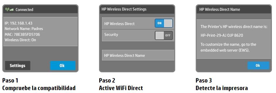 configuracion de la impresora wifi direct de hp